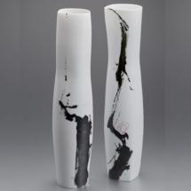 GAP-Karin BABLOK-Formes hautes porcelaine, 2016, h. 54 cm.